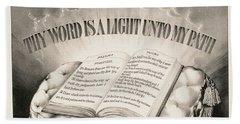 Thy Word Is A Light Unto My Path, 1872 Hand Towel