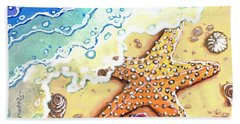 Tidal Beach Starfish Hand Towel