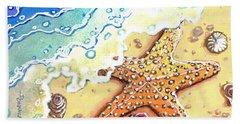 Tidal Beach Starfish Bath Towel