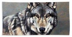 Timber Wolf By Alan M Hunt Bath Towel