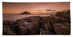 To The Sunset - Marazion Cornwall Bath Towel