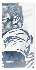 Tom Brady New England Patriots Pixel Art 150 Hand Towel