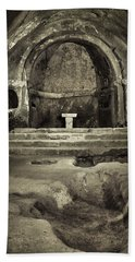 Tomb And Altar In The Monastery Of San Pedro De Rocas Hand Towel