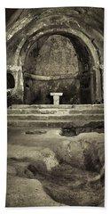 Tomb And Altar In The Monastery Of San Pedro De Rocas Bath Towel