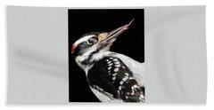 Tongue Of Woodpecker Bath Towel