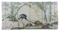 Top Quality Art - Cranes Pines And Bamboo Hand Towel