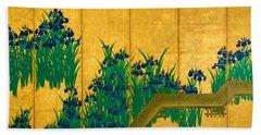 Top Quality Art - Irises At Yatsuhashi-eight Bridges #1 Hand Towel