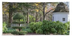Topiary In Colonial Williamsburg Bath Towel