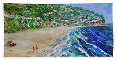 Torrance Beach, Palos Verdes Peninsula Hand Towel