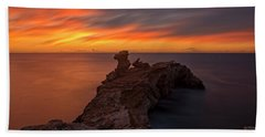 Total Calm At A Sunrise In Ibiza Hand Towel
