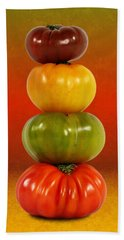 Tower Of Colorful Tomatoes Hand Towel