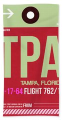 Tpa Tampa Luggage Tag II Bath Towel