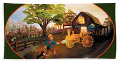 Tractor And Barn Bath Towel