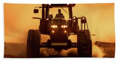 Tractor And Dust Hand Towel