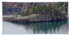Tranquility In Silver Bay Hand Towel