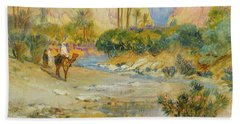 Travelers At The Oasis Hand Towel