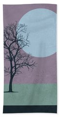 Tree And The Moon Hand Towel