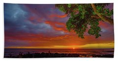 Tree  Sea And Sun Hand Towel