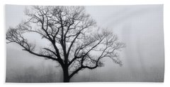 Trees In Fog # 2 Hand Towel