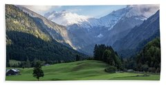 Bath Towel featuring the photograph Trettachtal, Allgaeu by Andreas Levi