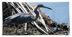 Tri-colored Heron 40312 Hand Towel