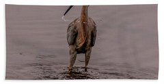 Tri Colored Heron Hand Towel