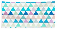 Triangle Abstract Background- Efg206 Hand Towel