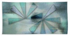Triangles On Blue Grey Backdrop Bath Towel