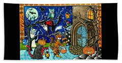 Trick Or Treat Halloween Cats Bath Towel