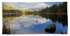 Trillium Lake Morning Reflections Hand Towel