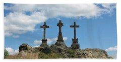 Trinity Crosses On The Hill Bath Towel