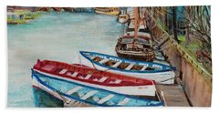 Trio Of Boats Hand Towel