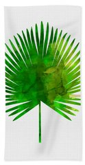 Tropical Chamaerops Leaf Hand Towel