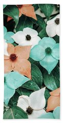Tropical Dogwood Flowers Bath Towel