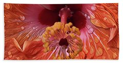 Tropical Hibiscus Hand Towel