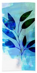 Tropical Leaf Watercolor II Hand Towel