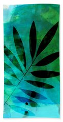 Tropical Leaf Watercolor  Hand Towel
