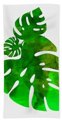 Tropical Monstera Leafs Hand Towel