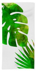 Tropical Monstera  Hand Towel