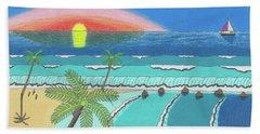 Tropical Sunrise Bath Towel