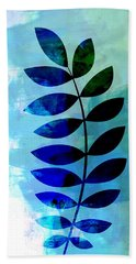 Tropical Zamioculcas Leaf Watercolor Hand Towel
