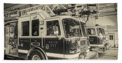 Truck And Engine 211 Bath Towel