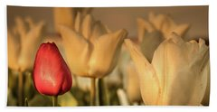 Bath Towel featuring the photograph Tulip Field by Anjo ten Kate