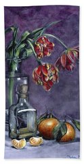 Tulips And Oranges Hand Towel