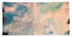 Turquoise Cosmic Cloud Bath Towel