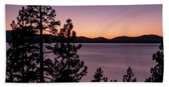 Twilight At Lake Tahoe Bath Towel