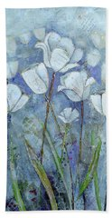 Twilight Tulips Bath Towel