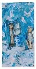 Twin Boy Angels Hand Towel
