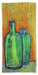 Two Green Bottles Bath Towel
