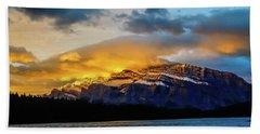 Two Jack Lake, Banff National Park, Alberta, Canada Bath Towel